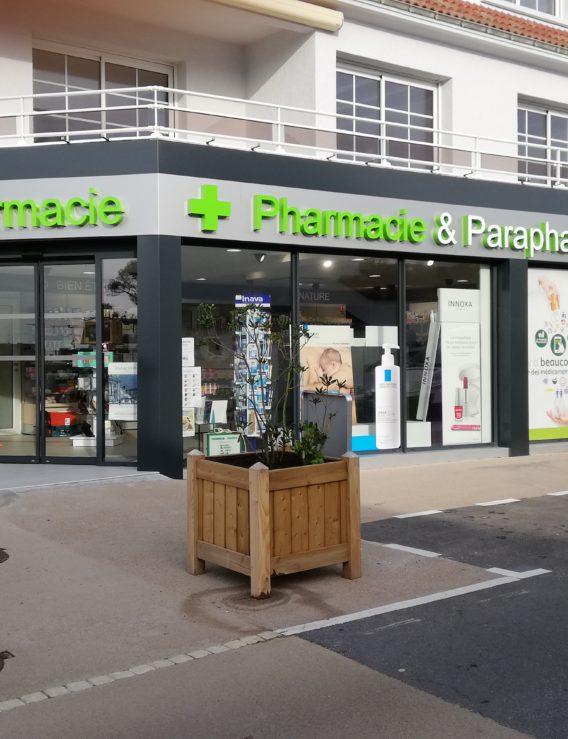 Rénovation de façade : la pharmacie de Préfailles (44)