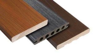 Exemple de lames de terrasse en bois composite