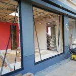 Travaux de rénovation de façade d'un cabinet vétérinaire
