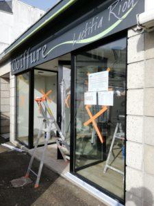 travaux de rénovation salon de coiffure