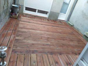 Rénovation lame de bois composite de terrasse à Angers : Après travaux