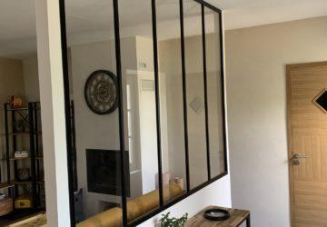 séparation d'espaces avec une verrière