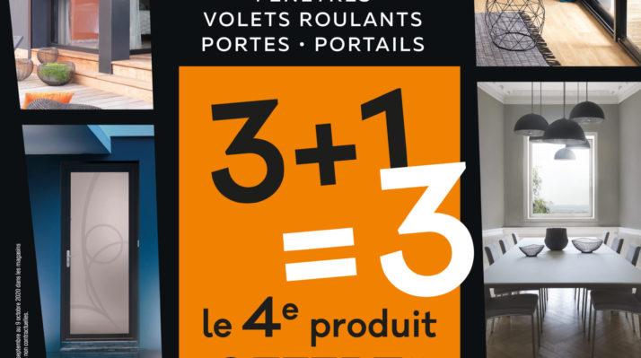 Promotion menuiserie Solabaie Angers : 3 + 1 gratuit,  de septembre à octobre 2020