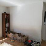 espace disponible avant création d'une bibliothèque sur mesure à Angers